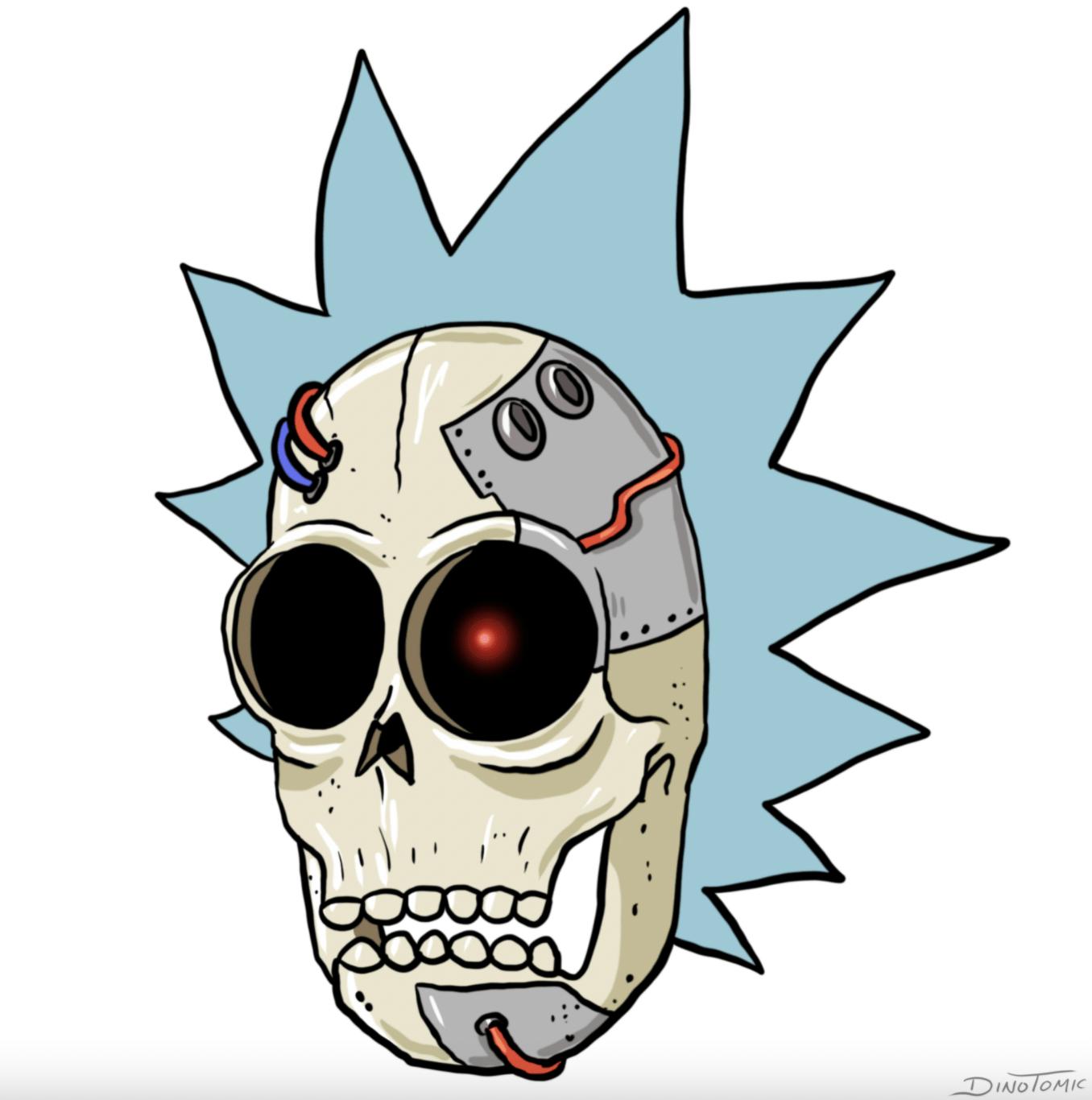 Rick Sanchez Skull by Dino Tomic-nft-drop